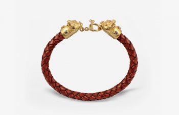 Tier-Armbänder: Mopshunde, 750er Gold