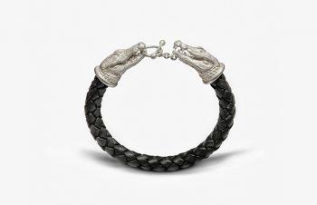 Tier-Armbänder: Krokodile, 925er Silber