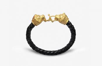 Tier-Armbänder: Löwen, 750er Gold, Diamanten