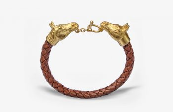 Tier-Armbänder: Pferde, 750er Gold