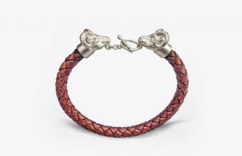 Tier-Armbänder: Widder, 925er Silber