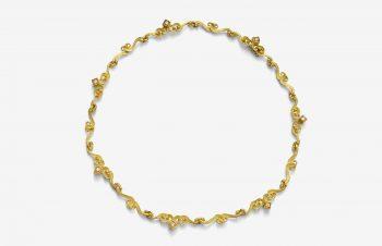 Colliers: 750er-Gold, Diamanten