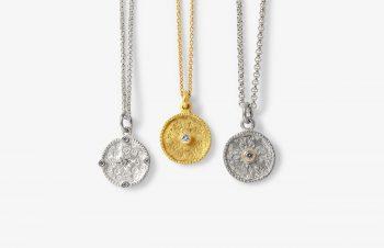Klassische Anhänger: Talisman, 750er Gold, Silber, Edelsteine