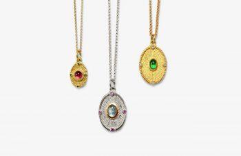 Klassische Anhänger: Taler, 750er Gold, Silber, Edelsteine