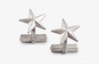 Manschettenknöpfe Sterne Silber
