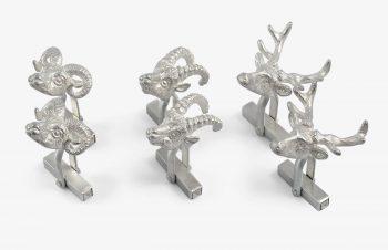 Manschettenknöpfe: Wild, 925er Silber