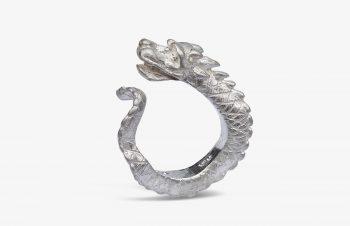 Tier-Ringe: Drachenring, Silber