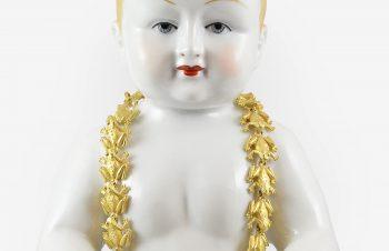 Colliers: Frösche, Detail, 750er-gold