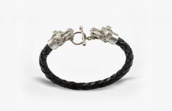 Tier-Armbänder: Drachen, 925er Silber