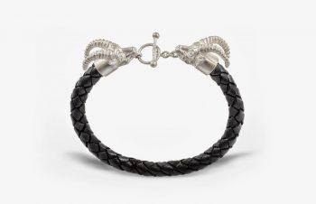 Tier-Armbänder: Steinböcke, 925er Silber