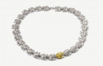 Colliers: Frösche, 925er Silber, 750er Gold