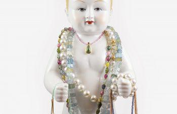Colliers: diverse Edelstein-Halsketten