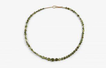 Colliers: grüne Turmalinkette - Verschluss 750er Gold