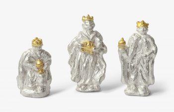 Weihnachtskrippe: Heilige Drei Könige, Silber, 750er Gold