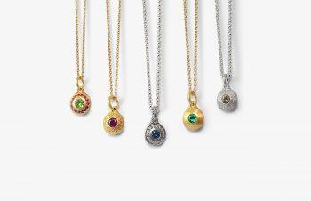 Klassische Anhänger: Smartie, 750er Gold, Silber, Edelsteine