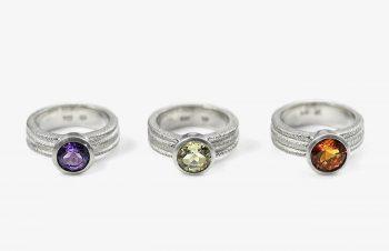 Klassische Ringe: Amethyst, Lemonquarz, Citrin, Silber
