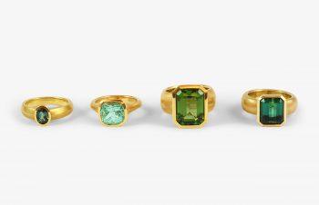 Klassische Ringe: Turmalin, 750er Gold