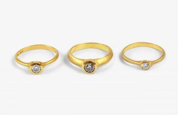 Klassische Ringe: Diamant, 750er Gold