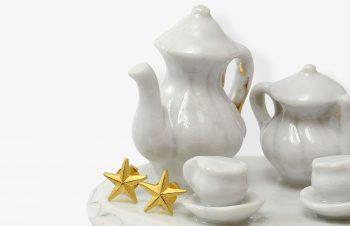 Klassischer-Ohrschmuck: Stern, 750er Gold