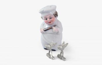 Manschettenknöpfe: Hasen, 925er Silber