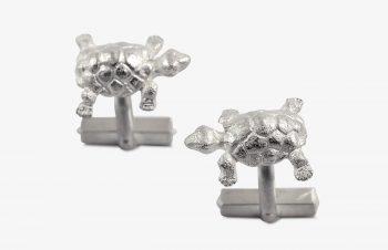 Manschettenknöpfe: Schildkröten, 925er Silber