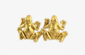Tier-Ohrringe: Frosch: 750er Gold