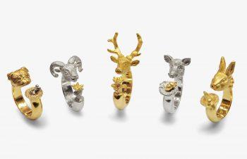 Tier-Ringe: 750er Gold, Silber