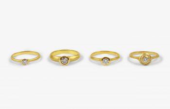 Verliebt, Verlobt, Verheiratet: Verlobungsringe 750er Gold, Diamanten
