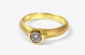 Verliebt, Verlobt, Verheiratet: Verlobungsring, 750er Gold, Diamant
