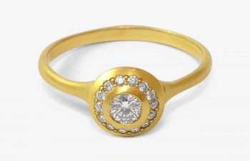 Verliebt, Verlobt, Verheiratet: Verlobungsring, 750er Gold, Diamanten