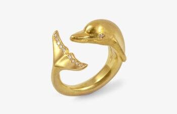 Tier-Ringe: Delfin 750er Gold, Diamanten