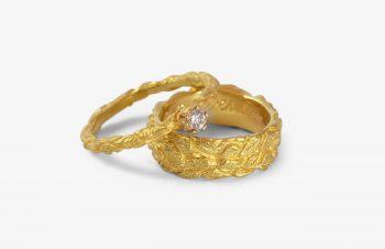 Verliebt, Verlobt, Verheiratet: Eheringe, 750er-Gold, Diamanten