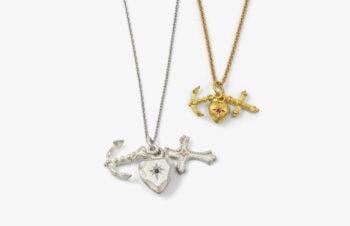 Klassische Anhänger: 750er Gold, Silber, Liebe, Glaube, Hoffnung