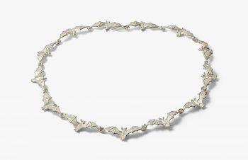 Colliers: Fledermaus, 925er Silber