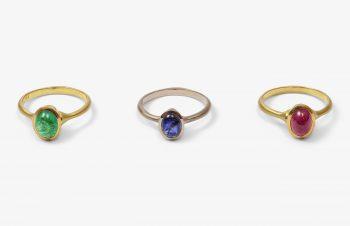 Klassische Ringe: 750er Gold, Smaragd, Saphir, Rubin