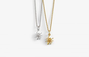 Tier-Anhänger: Spinne, 750er Gold, Silber