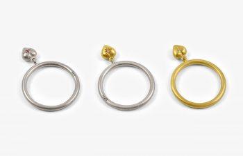 Verliebt, Verlobt, Verheiratet: Freundschaftsringe mitHerz-Anhänger, Gold, Silber
