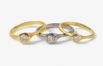 Verliebt, Verlobt, Verheiratet: Verlobungsringe, 750er Gold, Diamenten