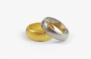 Verliebt, Verlobt, Verheiratet: Eheringe, 750er Gold