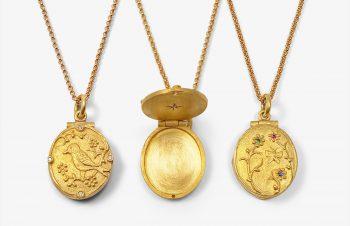 Tier-Anhänger: Medaillon, 750er Gold,