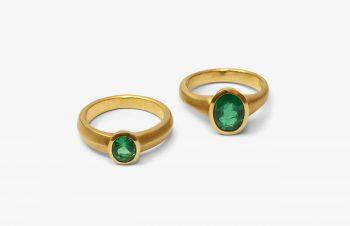 Klassische Ringe: 900er Gold, Smaragd