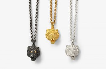 Tier-Anhänger: Löwe 750er Gold, Silber